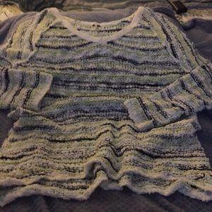 Free People oversized cottony Boucle knit sweater